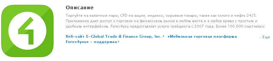 Forex4you на iPhone
